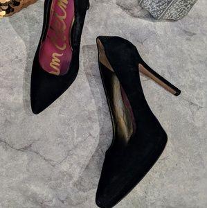 caec093f955073 Sam Edelman Celia Black Suede platform pump heel